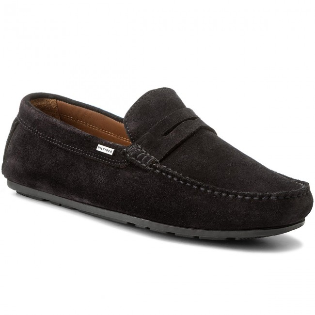 74f0817f0 Moccasins TOMMY HILFIGER. Classic Suede Penny Loafer FM0FM01168 Midnight 403