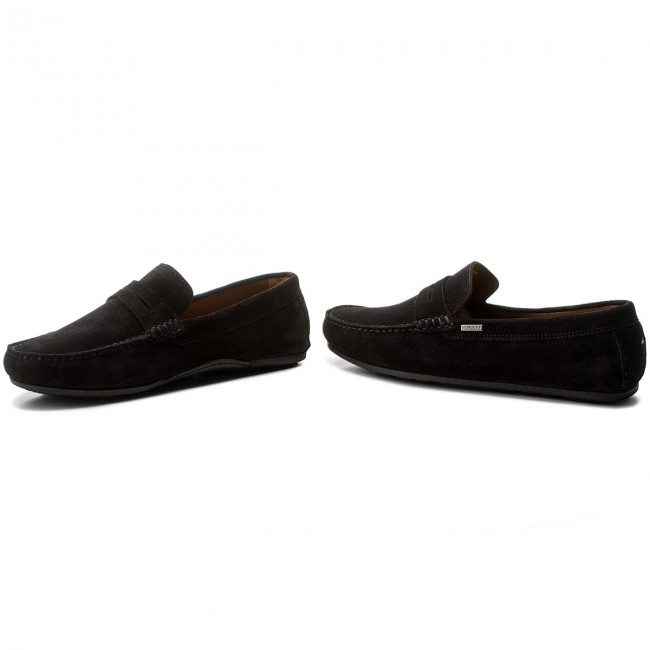 fd87b622e Moccasins TOMMY HILFIGER - Classic Suede Penny Loafer FM0FM01168 Midnight  403