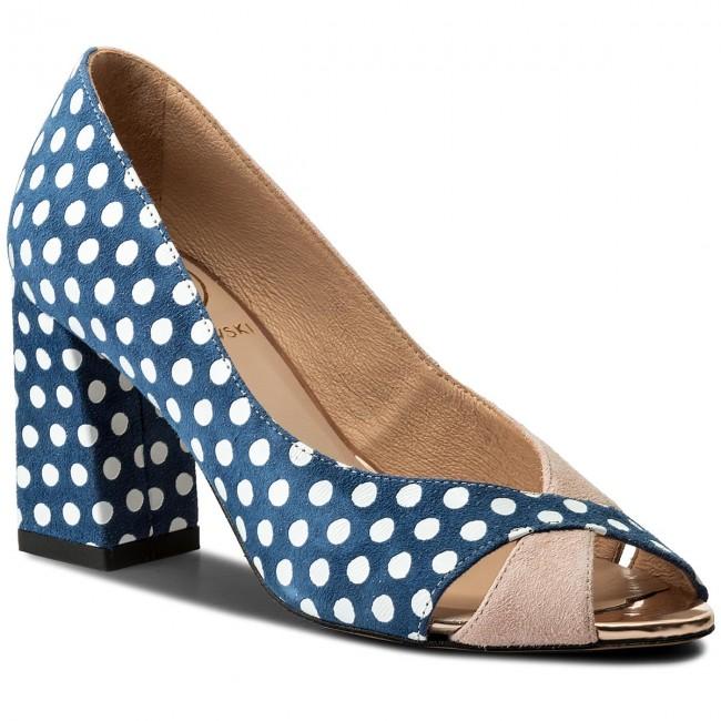 05b3f29a7227 Shoes BALDOWSKI - W00302-1567-001 Zamsz Blady Róż Kropki Granat ...