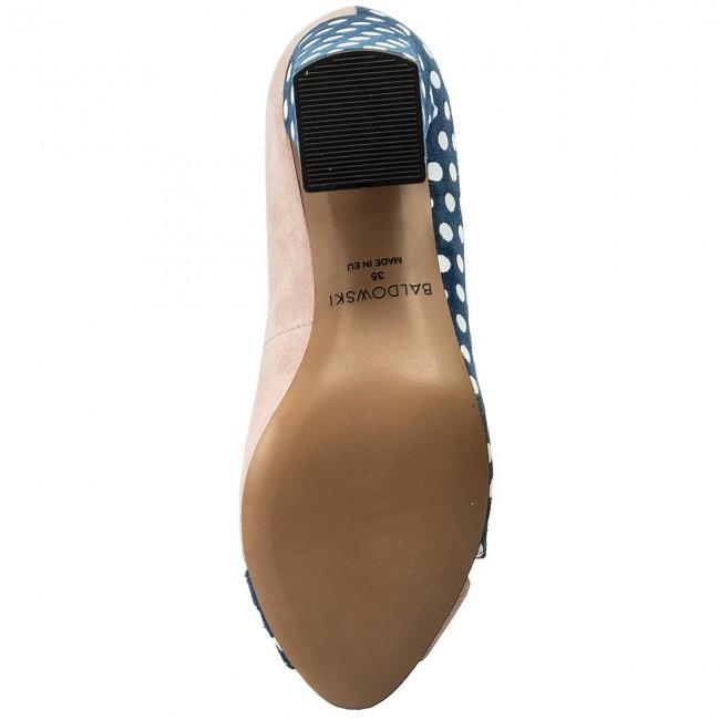 646b0ed5be18 Shoes BALDOWSKI - W00302-1567-001 Zamsz Blady Róż Kropki Granat Białe -  Heels - Low shoes - Women s shoes - www.efootwear.eu