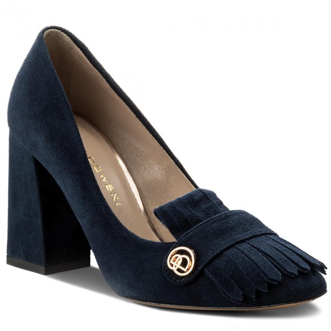 feb56740b25b Shoes BALDOWSKI - W00409-3945-003 Zamsz Granat Top Blue - Heels ...