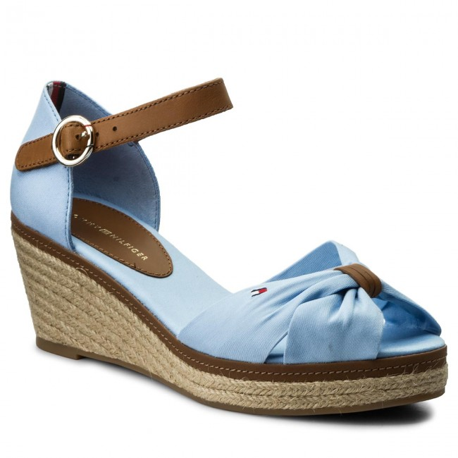 Espadrilles TOMMY HILFIGER - Iconic Elba Sandal FW0FW00906 Chambray Blue 407 OfZy2IkX