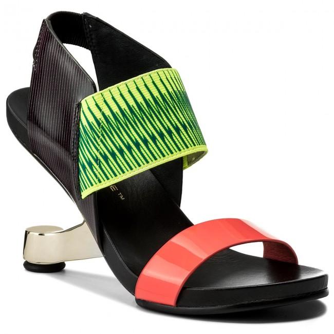 Sandalen UNITED NUDE - Eamz Raiko 1020355003108 Neon Red/Disco/Lime QaptMC