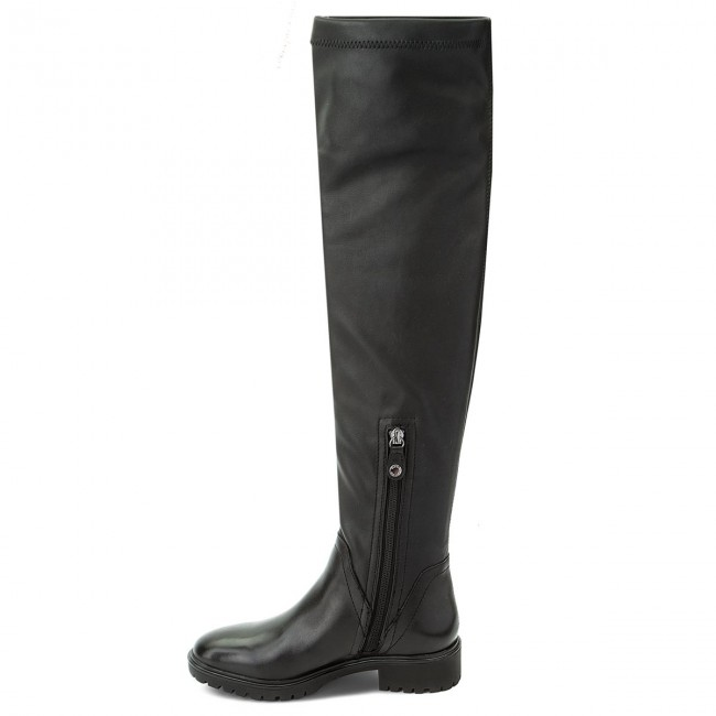 Knee GEOX Reaceful D Black Over C9999 0KB43 D640GI I Boots dqAvpf