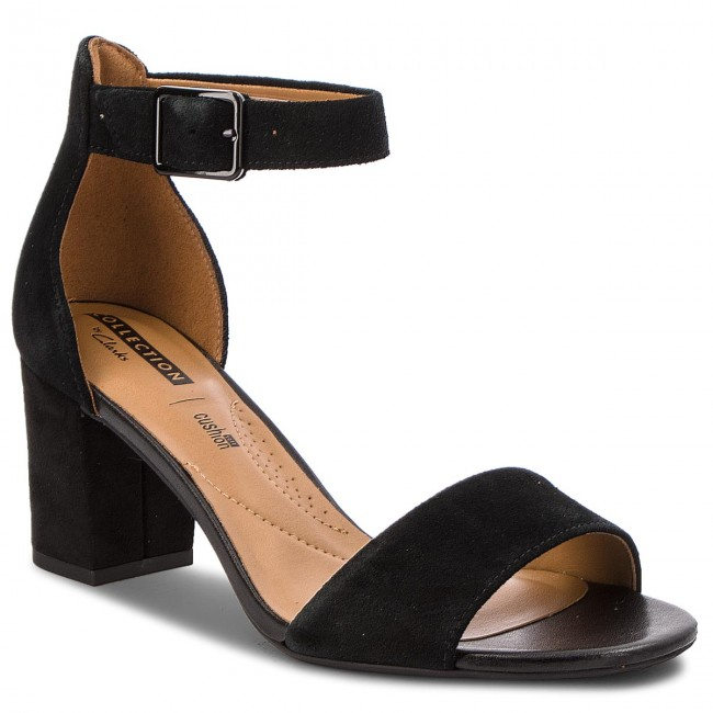 cc05144e7845 Sandals CLARKS - Deva Mae 261275684 Black Suede - Casual sandals ...