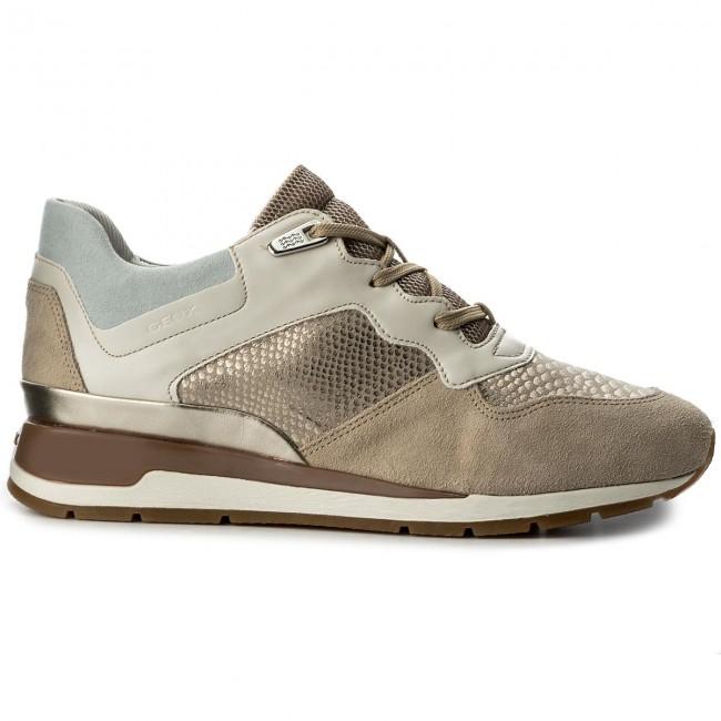 Sneakers GEOX - D Shahira B D62N1B 022KI CH62L Lt Taupe/Lt Gold