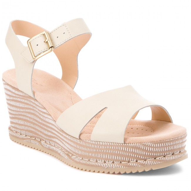 3e4dfaca65b Sandals CLARKS - Akilah Eden 261309554 White Combi Leather - Wedges ...