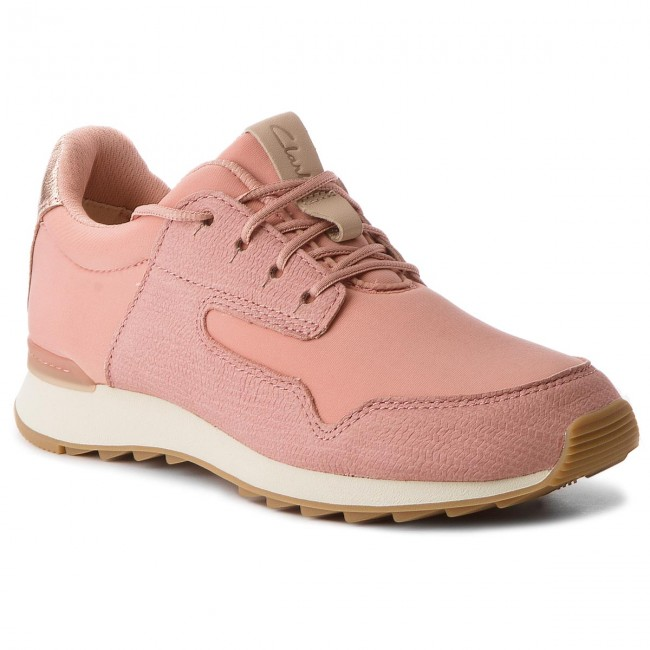 e4a3a49b74628 Sneakers CLARKS - Floura Mix 261309644 Pink Combi - Sneakers - Low ...