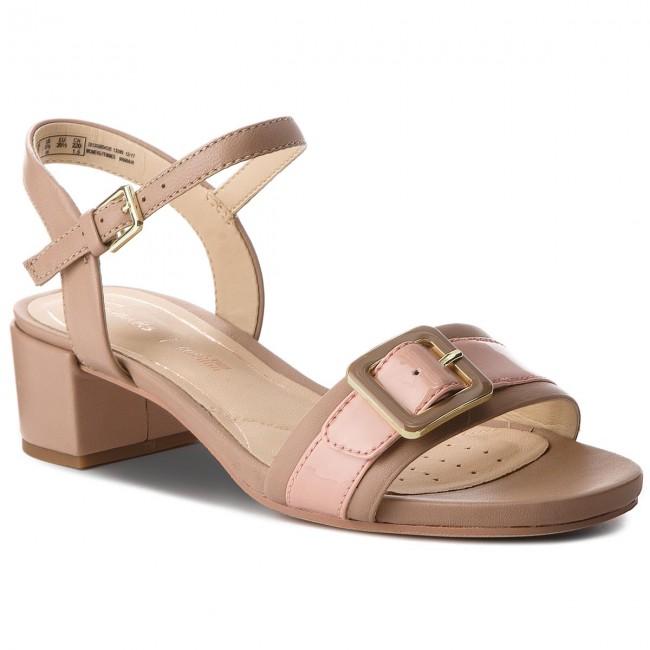 44a9a4f261a8 Sandals CLARKS - Orabella Shine 261309854 Nude Combi - Casual ...