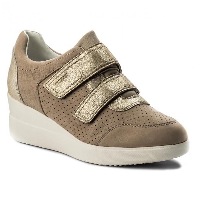 Sneakers GEOX - D Stardust C D8230C 0LTBN C5000 Beige - Sneakers ... 4d5e6563ed9