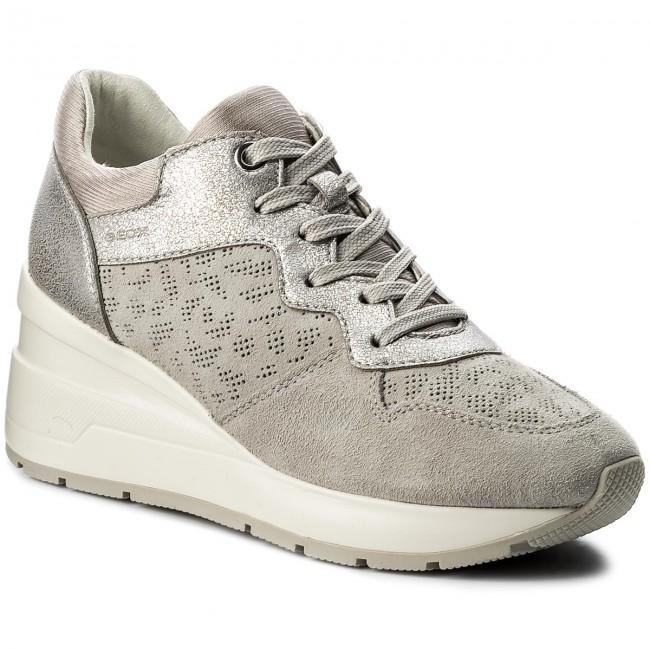 Sneakers GEOX - D Zosma C D828LC 022BN C1010 Lt Grey