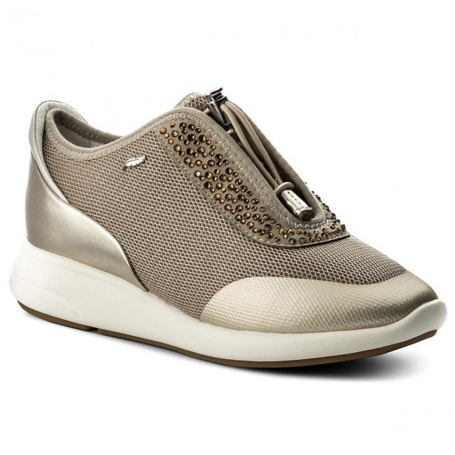 Sneakers GEOX - D Ophira E D621CE 0GNAJ CH62L Lt Taupe Lt Gold ... 84bf64a3372