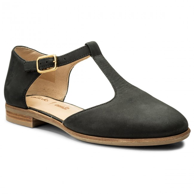 Nubuck Low 261309924 Shoes Black Flats Alice Rosa Clarks 1nXwgP6qR