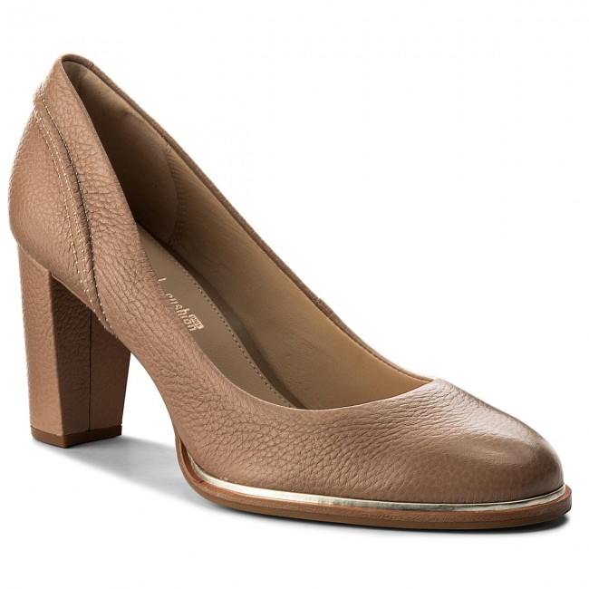6ac4c54920 Shoes CLARKS - Ellis Edith 261310254 Nude Leather - Heels - Low ...