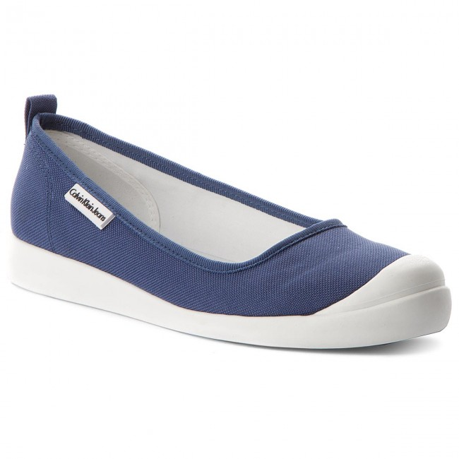 Calvin Klein Jeans LIBBY - Ballet pumps - steel blue SVs5z7aSy