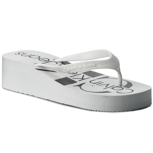 c4d450880 Slides CALVIN KLEIN JEANS - Tesse Jelly RE9734 White - Flip-flops ...