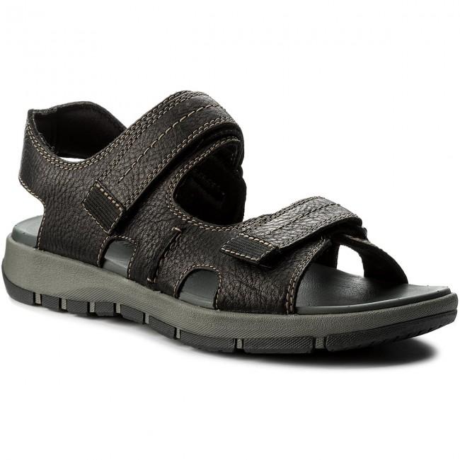2f0d1e65036 Sandals CLARKS - Brixby Shore 261315457 Black Leather - Sandals ...