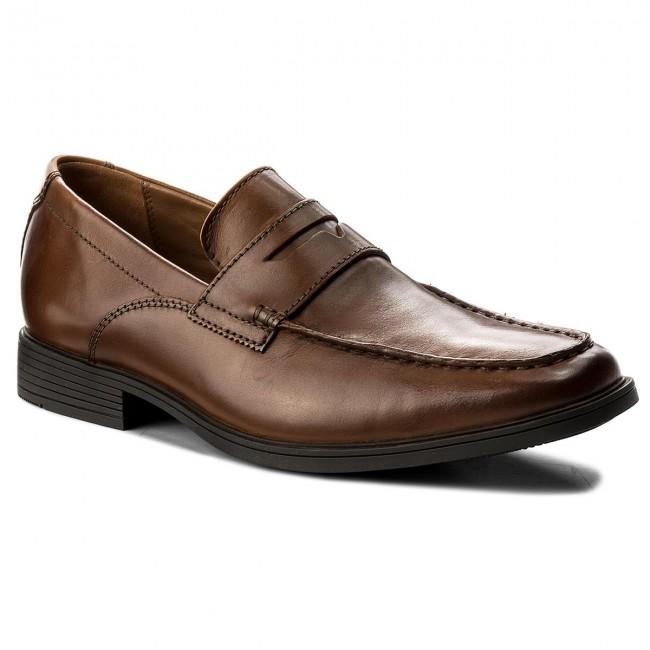 a6c48cf08c5 Shoes CLARKS - Tilden Way 261315767 Tan Leather - Formal shoes - Low ...
