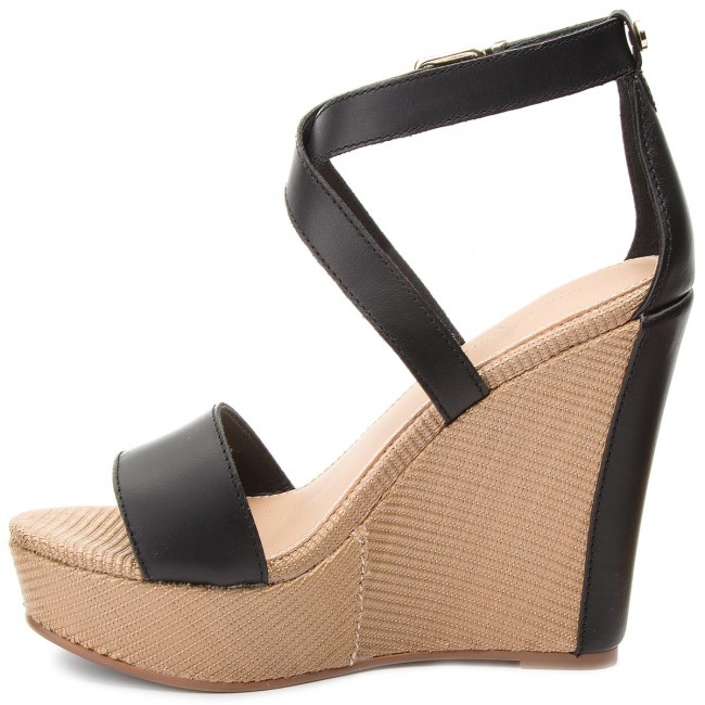 Sandals TOMMY HILFIGER - Feminine Wedge Sandal Stars Studs FW0FW02236 Black  990 - Wedges - Mules and sandals - Women s shoes - www.efootwear.eu aafd230922f