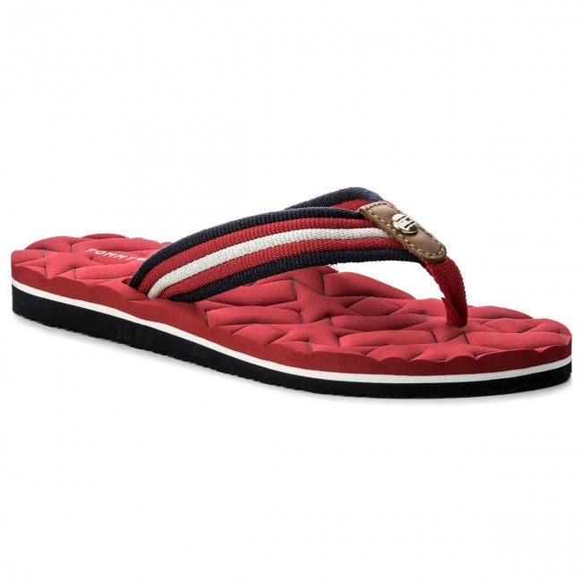 02d481acd44726 Slides TOMMY HILFIGER - Comfort Low Beach Sandal FW0FW02368 Tango Red 611