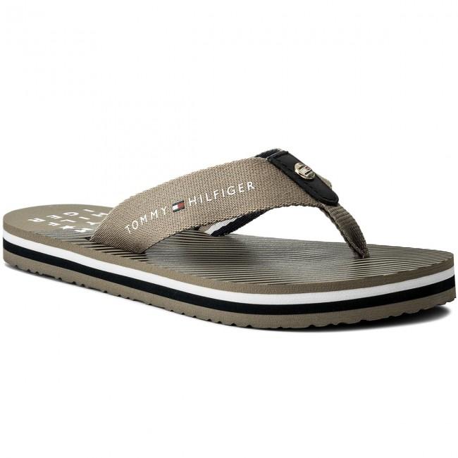 Slides TOMMY HILFIGER - Essential Stripe Beach Sandal FW0FW02378 ... f28239de2a