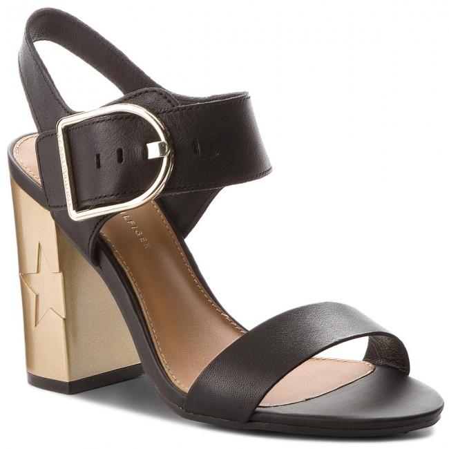 218ceafb6abb Sandals TOMMY HILFIGER. Feminine Heel Oversized Buckle FW0FW02578 Black 990