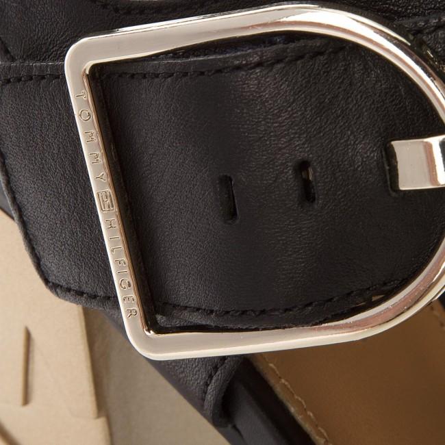 677b04dcdd3943 Sandals TOMMY HILFIGER - Feminine Heel Oversized Buckle FW0FW02578 Black 990