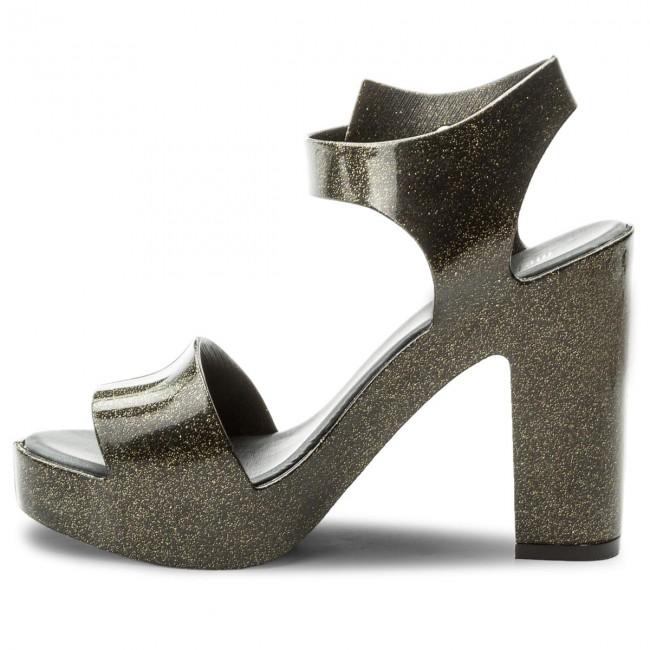 Sandalen MELISSA - Mar Heel Ad 31951 Glitter Black 03814 ihOQ3Fo