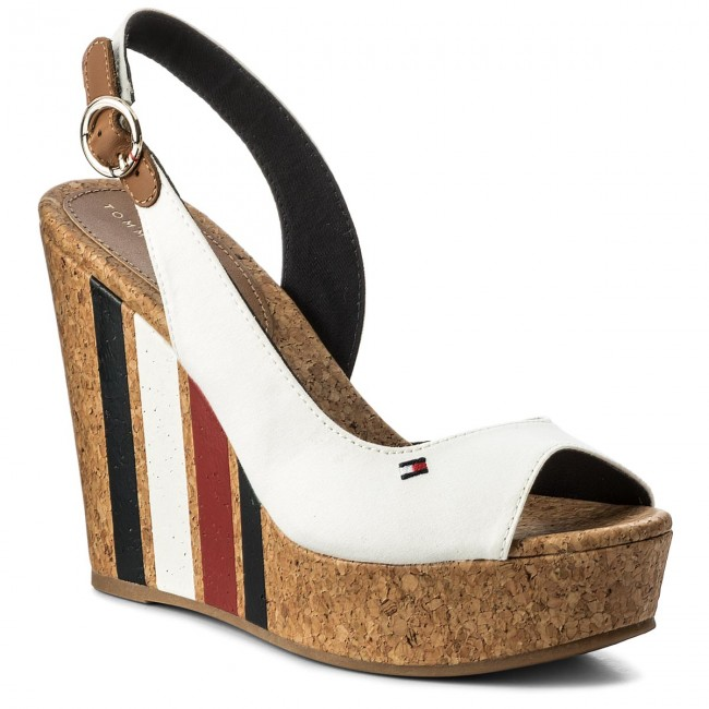d26edb2d8 Sandals TOMMY HILFIGER - Wedge With Printed Stripes FW0FW02794 ...
