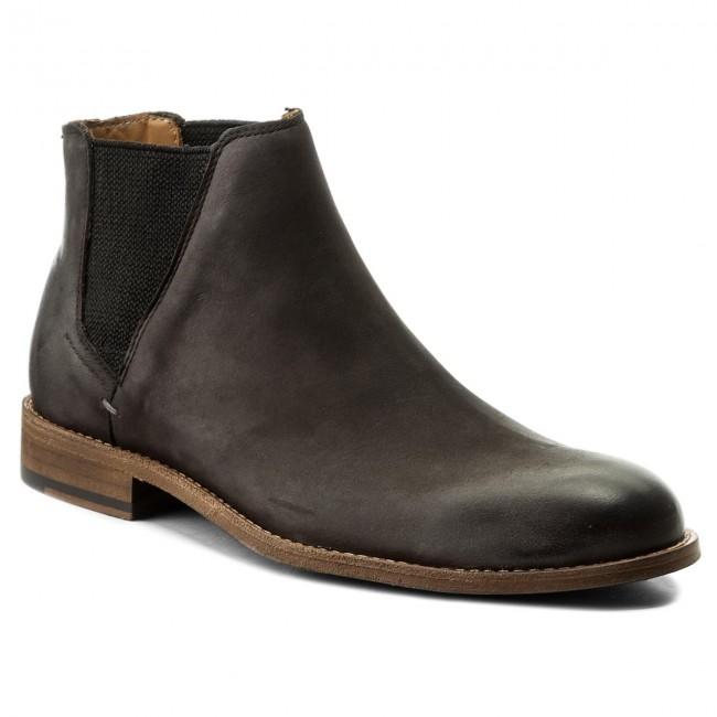 Suede Chelsea Boots in Dark Grey - 021 BOSS F2Vi57462