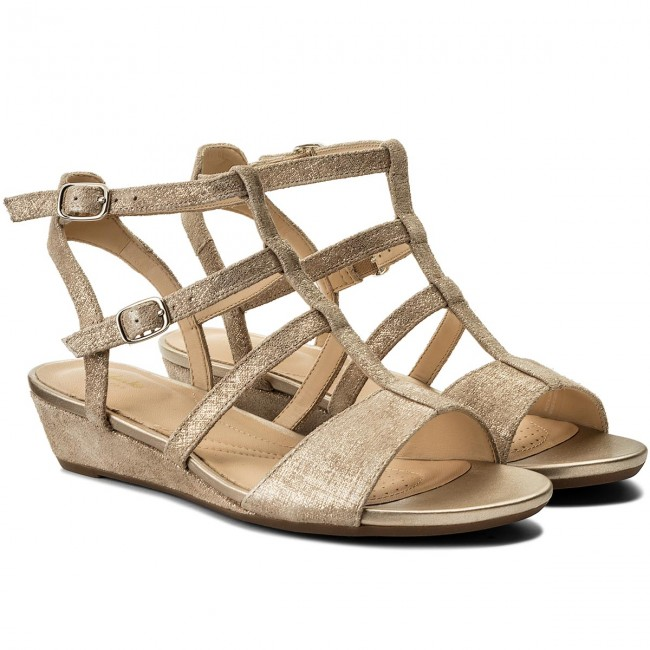 54b2a134584 Sandals CLARKS - Parram Spice 261318754 Gold Suede - Casual sandals -  Sandals - Mules and sandals - Women s shoes - www.efootwear.eu