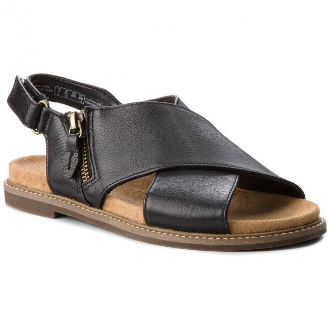 Sandalen CLARKS - Corsio Calm 261319134 Black Leather T0C7o1Aequ