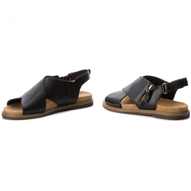 Sandalen CLARKS - Corsio Calm 261319134 Black Leather QnGQbFH1Ju