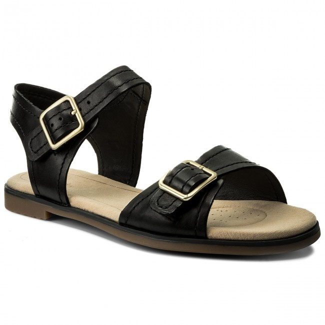 9b8453c3769df8 Sandals CLARKS - Bay Primrose 261319344 Black Leather - Casual ...