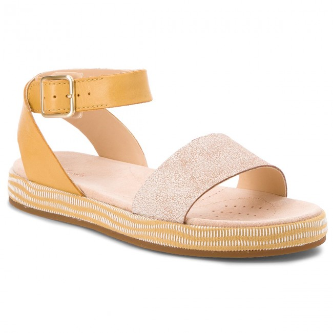 652961c59910 Sandals CLARKS - Botanic Ivy 261319584 Yellow Combination - Casual ...