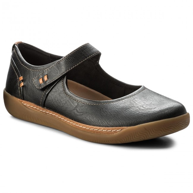 3eb6d195 Shoes CLARKS - Un Haven Strap 261321924 Black Leather - Flats - Low ...