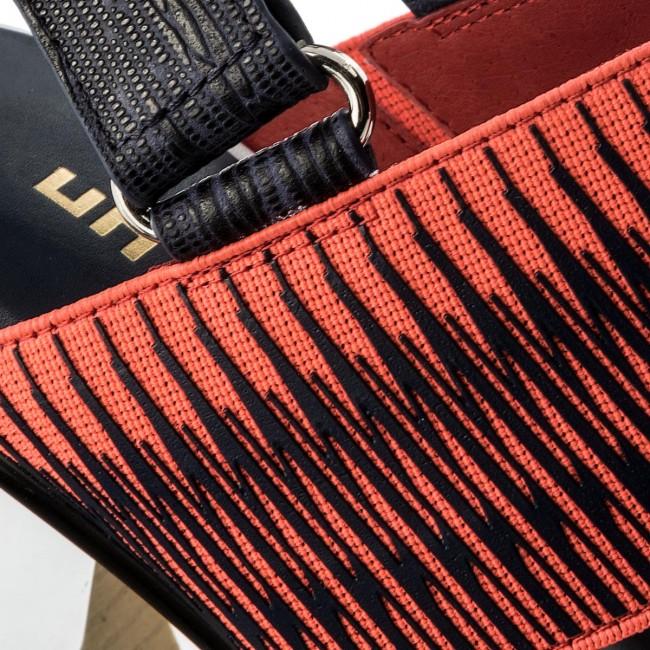 1452fee3428b Sandals UNITED NUDE - Zink Slingback Hi 10300416108 Black And White  Mix Neon Red
