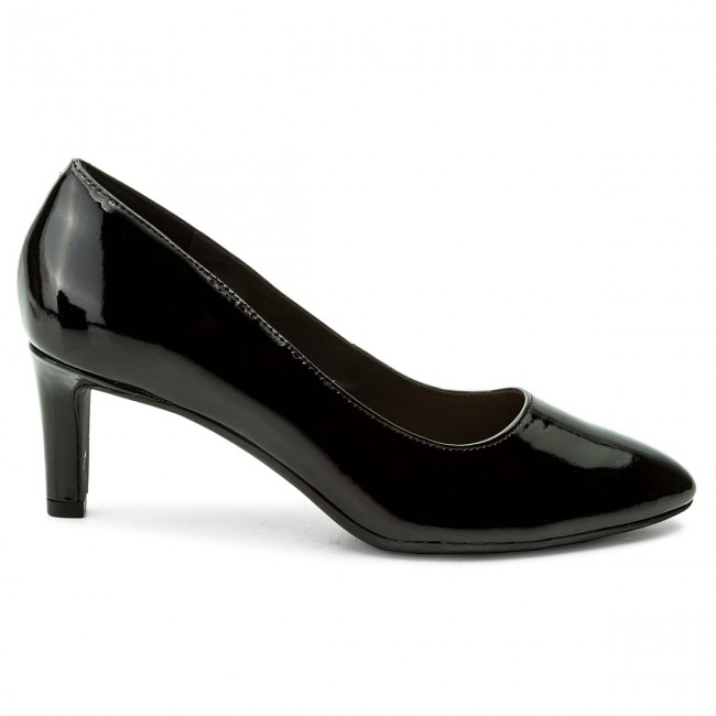 2b7530465ca7 Shoes CLARKS - Calla Rose 261322444 Black Patent Leather - Heels - Low shoes  - Women s shoes - www.efootwear.eu