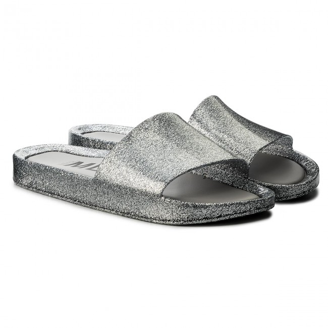af23165aed53 Slides MELISSA - Beach Slide Shine Ad 32291 Glass Silver Glitter 03895 -  Casual mules - Mules - Mules and sandals - Women s shoes - www.efootwear.eu