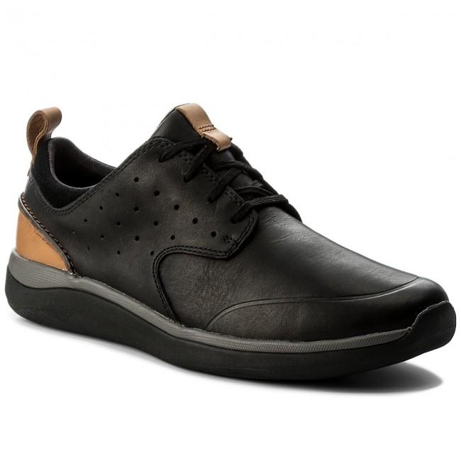 97c42b066 Shoes CLARKS - Garratt Lace 261322997 Black Leather - Casual - Low ...