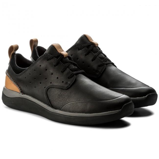 e7056514c Shoes CLARKS - Garratt Lace 261322997 Black Leather - Casual - Low shoes -  Men s shoes - www.efootwear.eu