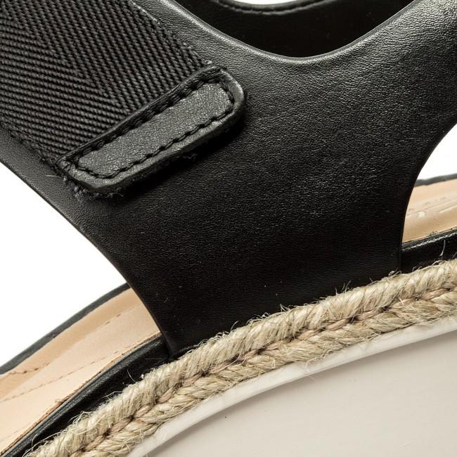 Espadrilles CLARKS - Palm Shine 261324994 Black Leather NrbA5R8