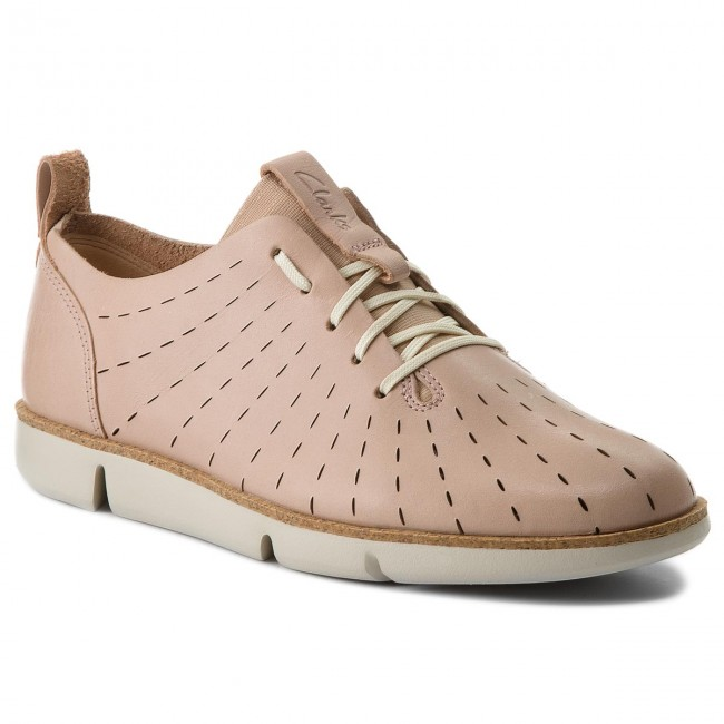 Shoes CLARKS - Tri Etch 261325274 Nude Pink Leather