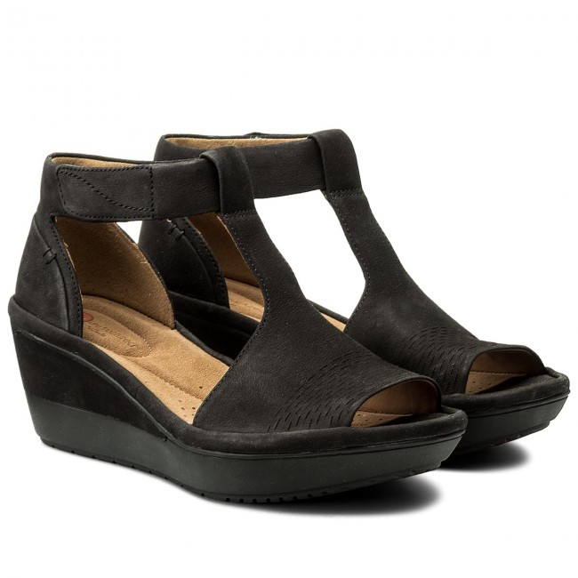 Sandalen CLARKS - Wynnmere Avah 261325404 Black Nubuck m5DSI