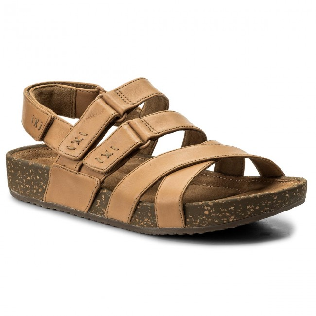 baa421ff71c7 Sandals CLARKS - Rosilla Keene 261325464 Light Tan Leather - Casual ...