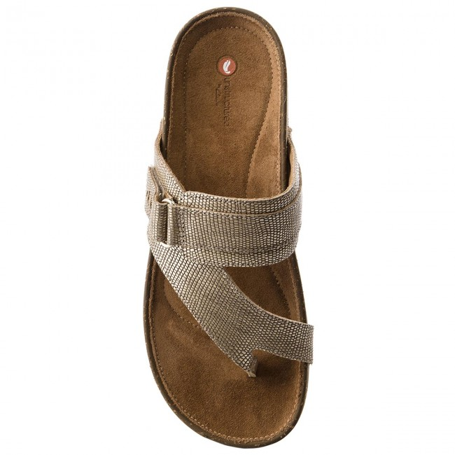 d309393dc4a Slides CLARKS - Rosilla Durham 261325514 Gold Metallic - Flip-flops - Mules  and sandals - Women s shoes - www.efootwear.eu