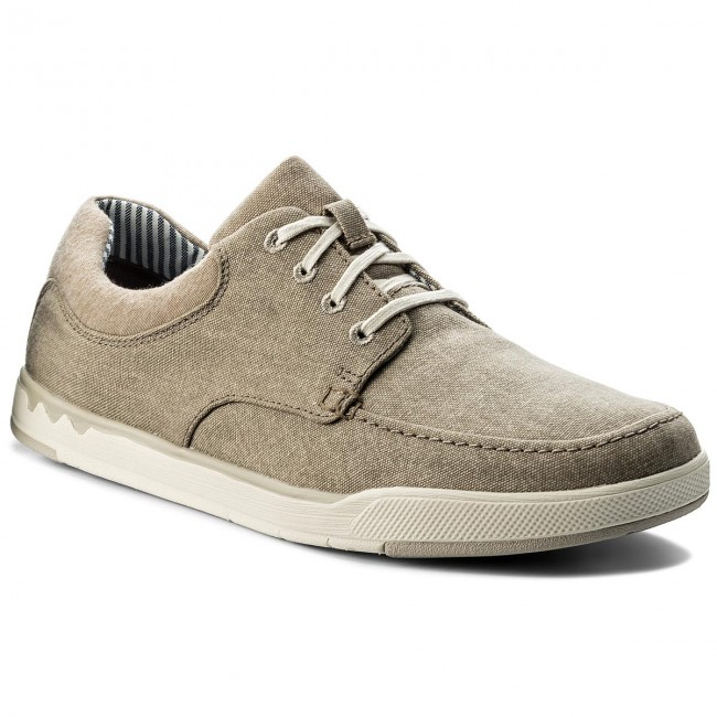8a8619b1 Shoes CLARKS - Step Isle Lace 261327717 Sand Canvas - Casual - Low ...