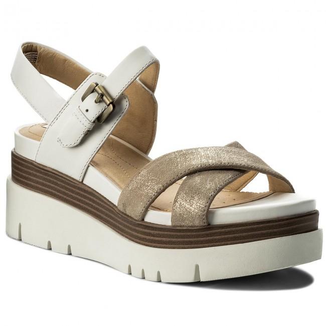 0db35899be51 Sandals GEOX - D Radwa C D827UC 07743 C0917 Lt Gold White - Casual ...
