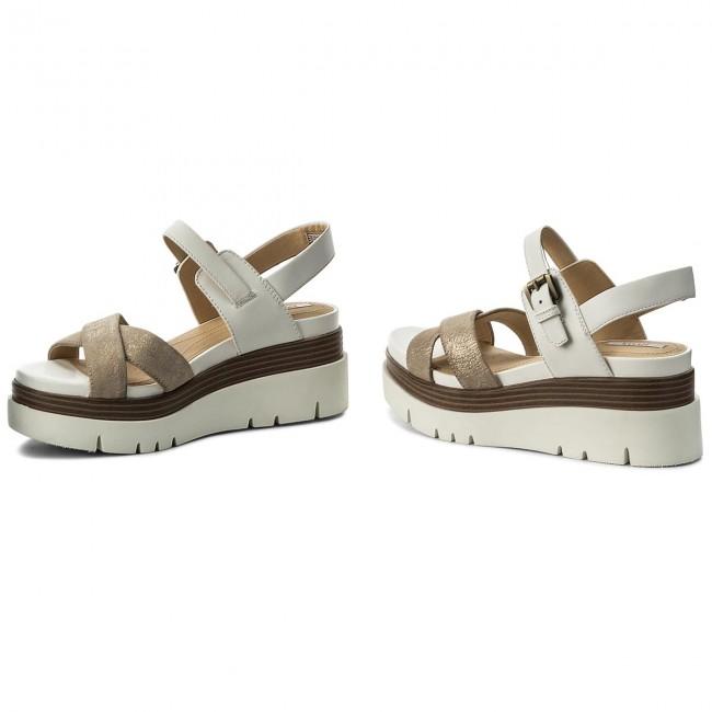 Sandals GEOX - D Radwa C D827UC 07743 C0917 Lt Gold White - Casual ... 2ddefa02e9c