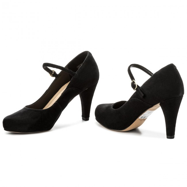 1bd3265702ca Shoes CLARKS - Dalia Lily 261332624 Black Suede - Heels - Low shoes ...